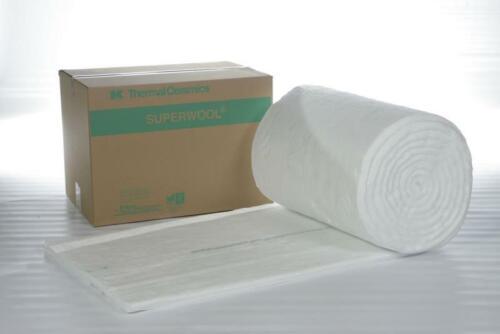 Superwool Hochtemperatur Isolierung 1200 °C  25 mm 128 KG Keramikfasermatte Ofen