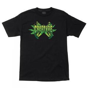 CREATURE-OG-Quien-Tee-Camiseta-De-Skateboard-Negro