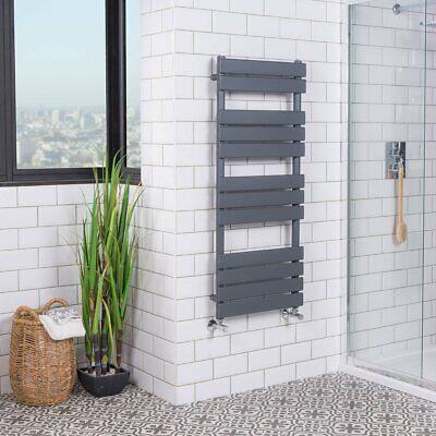 Designer Bathroom Flat Panel Heated Towel Rail Radiator - 1200 x 500mm Sand Grey