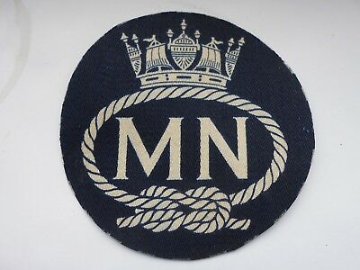 merchant navy vintage silk on cotton felt   cloth patch