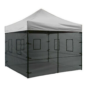 Image is loading 10-X-10-canopy-Mesh-Side-Food-Wall-  sc 1 st  eBay & 10 X 10 canopy Mesh Side Food Wall Kit  Zipper Door and windows ...