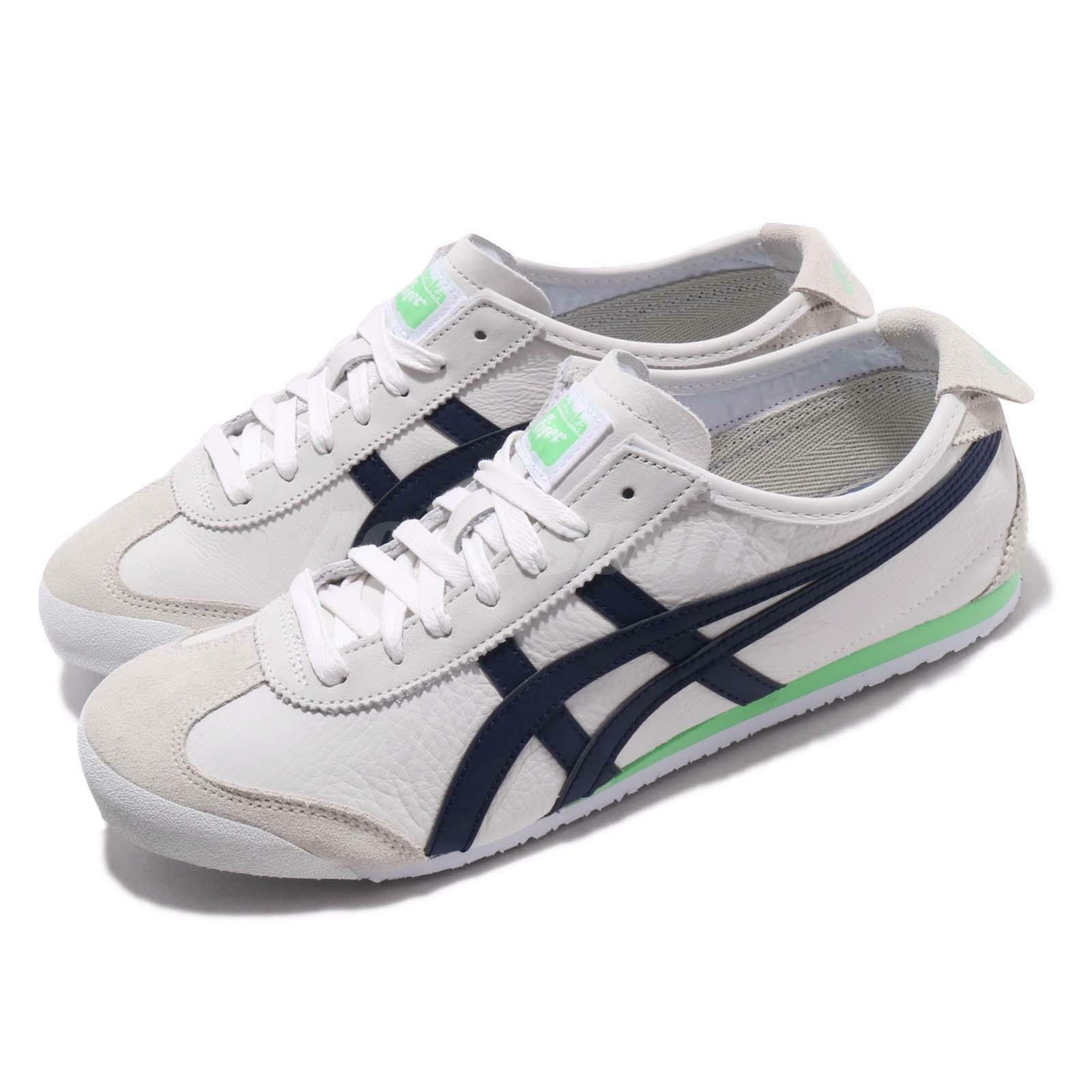 Asics Onitsuka Tiger Mexico 66 White Peacoat Green Men Running shoes 1183A359-101