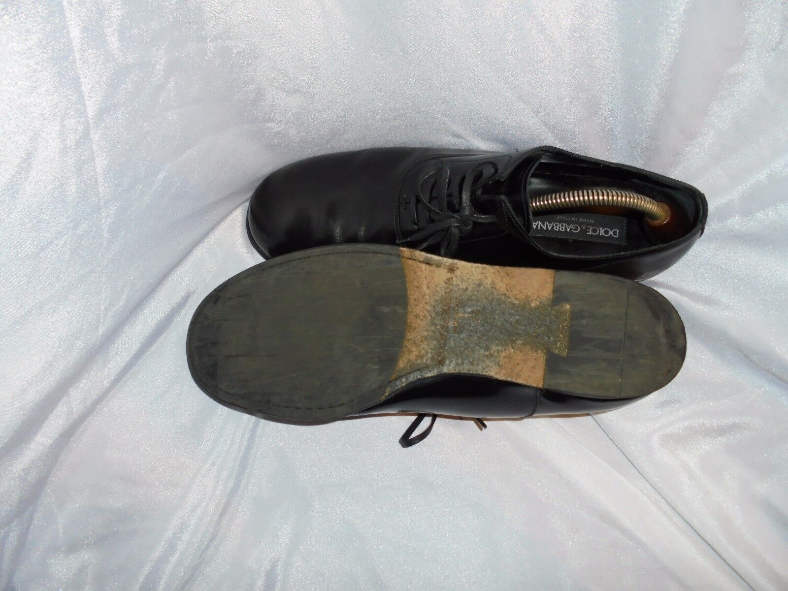 DOLCE AND UP GABBGANA MEN'S BLACK LEATHER LACE UP AND SHOES SIZE UK 7.5 EU 41.5 VGC 7ccf5e