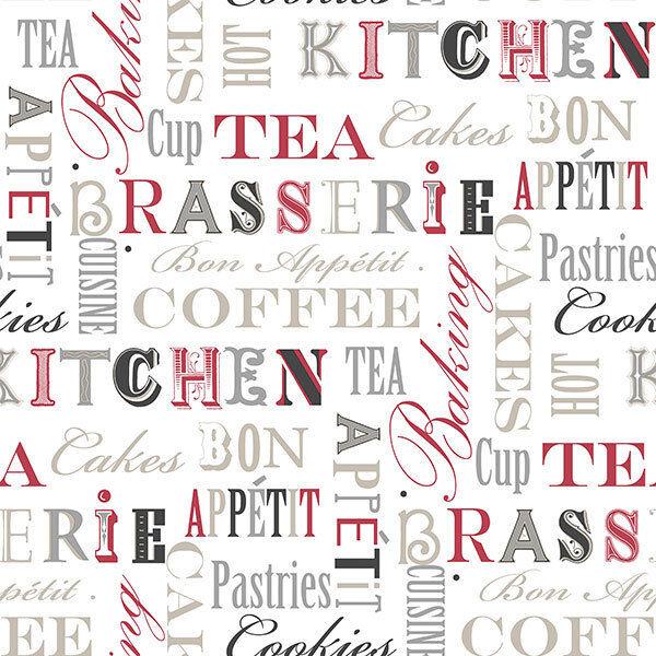 FK34413-fresh cuisines cuisine phrases noir rouge argent galerie papier peint