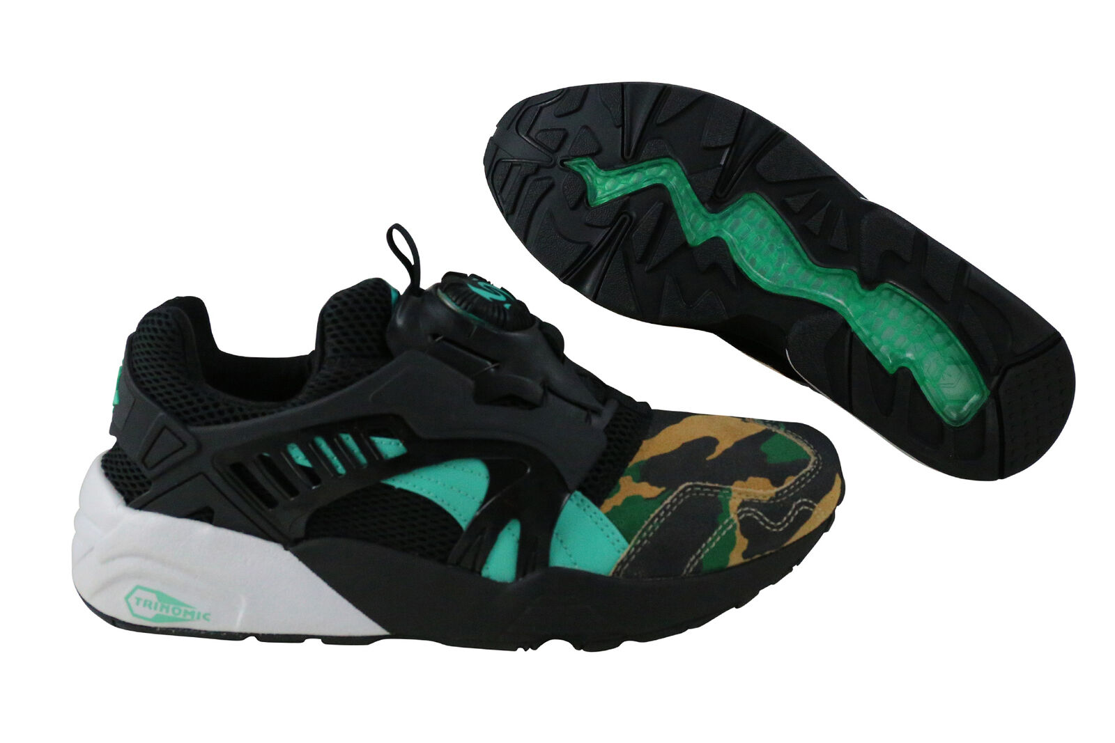 Puma Disc Blaze Night Jungle black electric green Schuhe 363060 01 schwarz