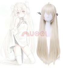 USA Ship In solitude Yosuga no Sora Kasugano Beige Straight Long Cosplay Wig
