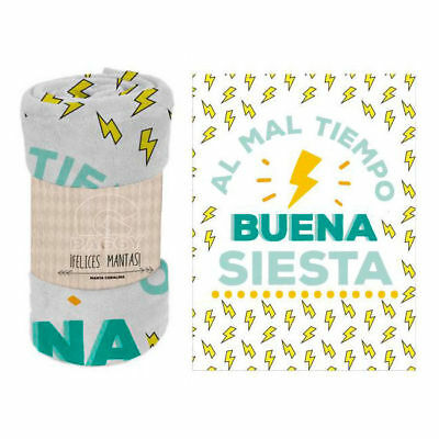 "Manta polar coralina ""Buena siesta"""