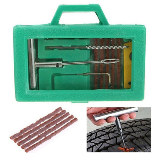 Tire Repair Kit Heavy Duty Puncture Fix Tools Plug Car Truck Motorcycle Bike 0U