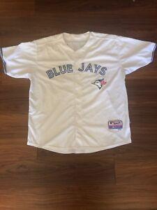 8f75501f09e R.A. Dickey White Toronto Blue Jays MLB Jersey Adult Size 52 ...