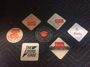 7-Vintage-1980s-034-Coors-Beer-034-Paper-Coasters-New-Vintage-Coors-Man-Cave