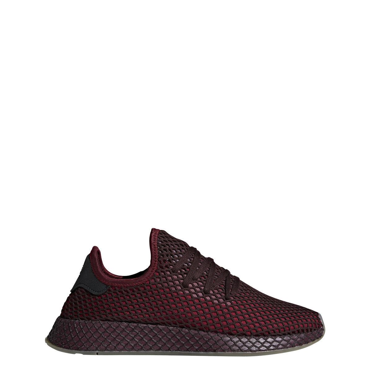 Adidas Mens DEERUPT RUNNER Burgundy Burgundy Green - B41773