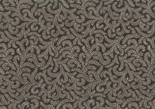 PKaufmann Fabric  Gray Light Beige Scroll  Cotton Drapery Upholstery