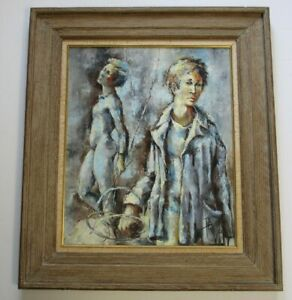 ROBERT-AILLAUD-AYO-PAINTING-FRENCH-MODERNISM-1960-VINTAGE-PARIS-EXPRESSIONIST