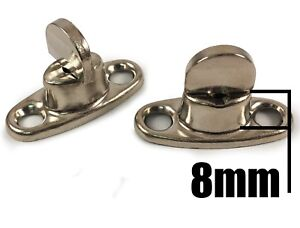 Details About 10x 8mm Standard 2 Hole Base Turnbutton Common Sense Boat Canopy Cover Fastener