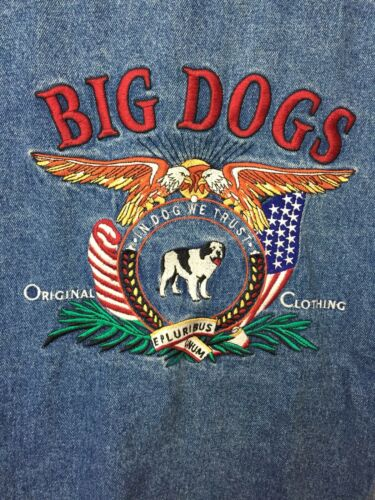 Jakke Store Large Dame Størrelse Denim Blå Unisex Hunde Jean Broderede qwqRx7Ff