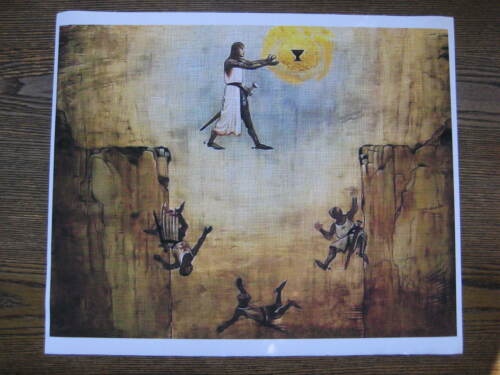 "Indiana Jones /& the Last Crusade CANVAS Leap of Faith Poster 10/"" x 12-3//4/"""
