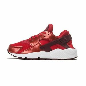 edcba34a75eec WOMENS NIKE AIR HUARACHE RUN TRAINERS - RED   WHITE - 634835 605 ...