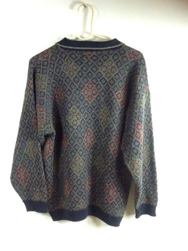 Italia suéter Grafico lana talla azul burdeos de marino suéter grande italiano gUHnBRUO