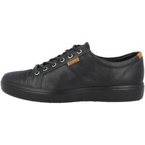 Details zu Ecco Soft 7 Men Schuhe Herren Sneaker Halbschuhe Leder black 430004 51707 Biom