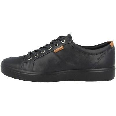 Ecco Soft 7 Men Schuhe Herren Sneaker Halbschuhe Leder black 430004 51707 Biom | eBay