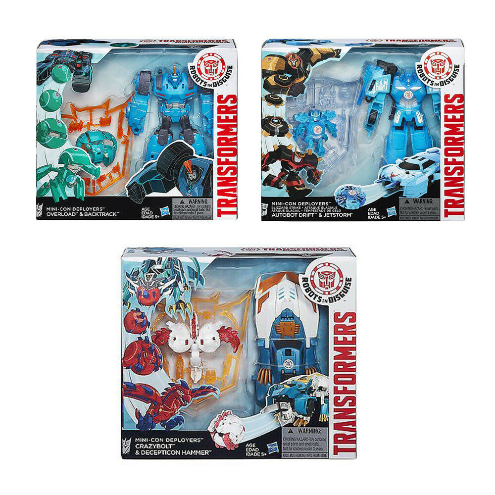 Transformers Robots In Disguise Deployers 3 SET CHEAP Mini-Con
