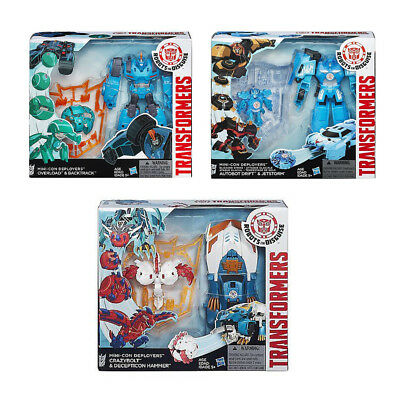 Transformers Robots In Disguise Mini-Con Deployers 3 SET CHEAP (G)
