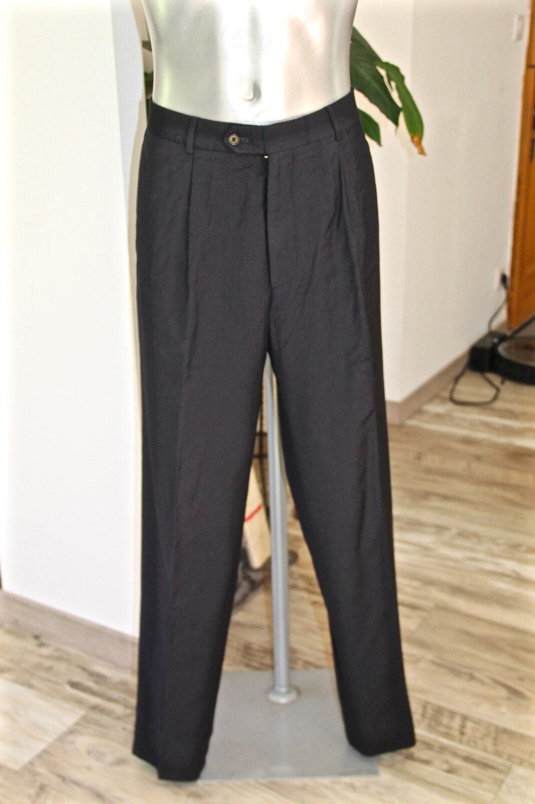 Pantalon costume laine bleu marine stretch HUGO BOSS hokker T 44-46 fr (GR 52)