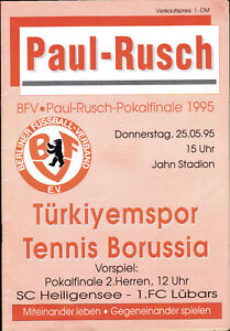 Fußball-Fanshop Tennis Borussia Berlin Paul-Rusch-Pokalendspiel Berlin 25.05.1995 Türkiyemspor