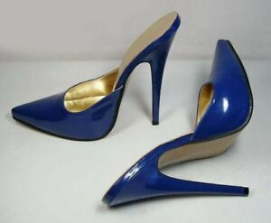 Women-039-s-Patent-Leather-High-Heels-Stilettos-Pointed-Toe-Mules-Party-Club-Shoes