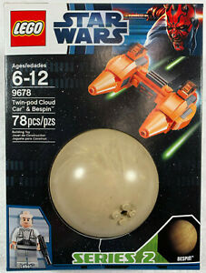 BRAND NEW SEALED LEGO 9678 Star Wars Twin Pod Cloud Car and Bespin