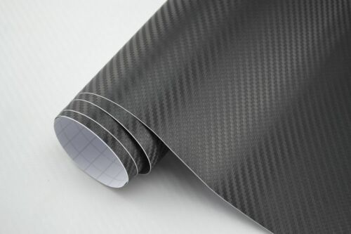 5,03€//m² Carbon Folie 3D Struktur schwarz 300 x 152  cm  Klebefolie matt glanz