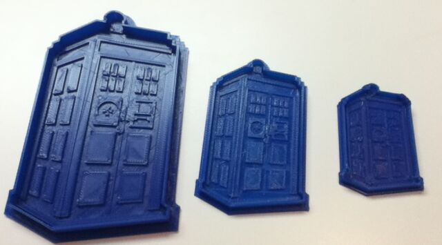 Dr Who Tardis - Cookie Cutter - Choice of Sizes - 3D Printed Plastic