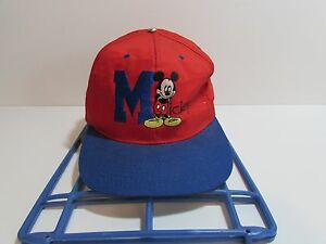 e3e110c077c Image is loading Disney-Mickey-Mouse-Hat-Cap-Embroidered-Red-Blue