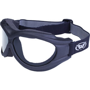 Global Vision Big Ben Motorcycle Goggles Black Frame Clear Lens