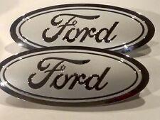 2015 FORD F-150 UG pearl w/ chromeLOGO & out edge, Emblem SET, FRONT & REAR