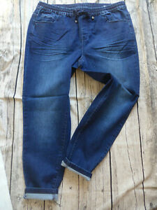 Sheego-Jeans-Trousers-Stretch-Jeggings-Size-42-to-52-Blue-352-Elastic-Band