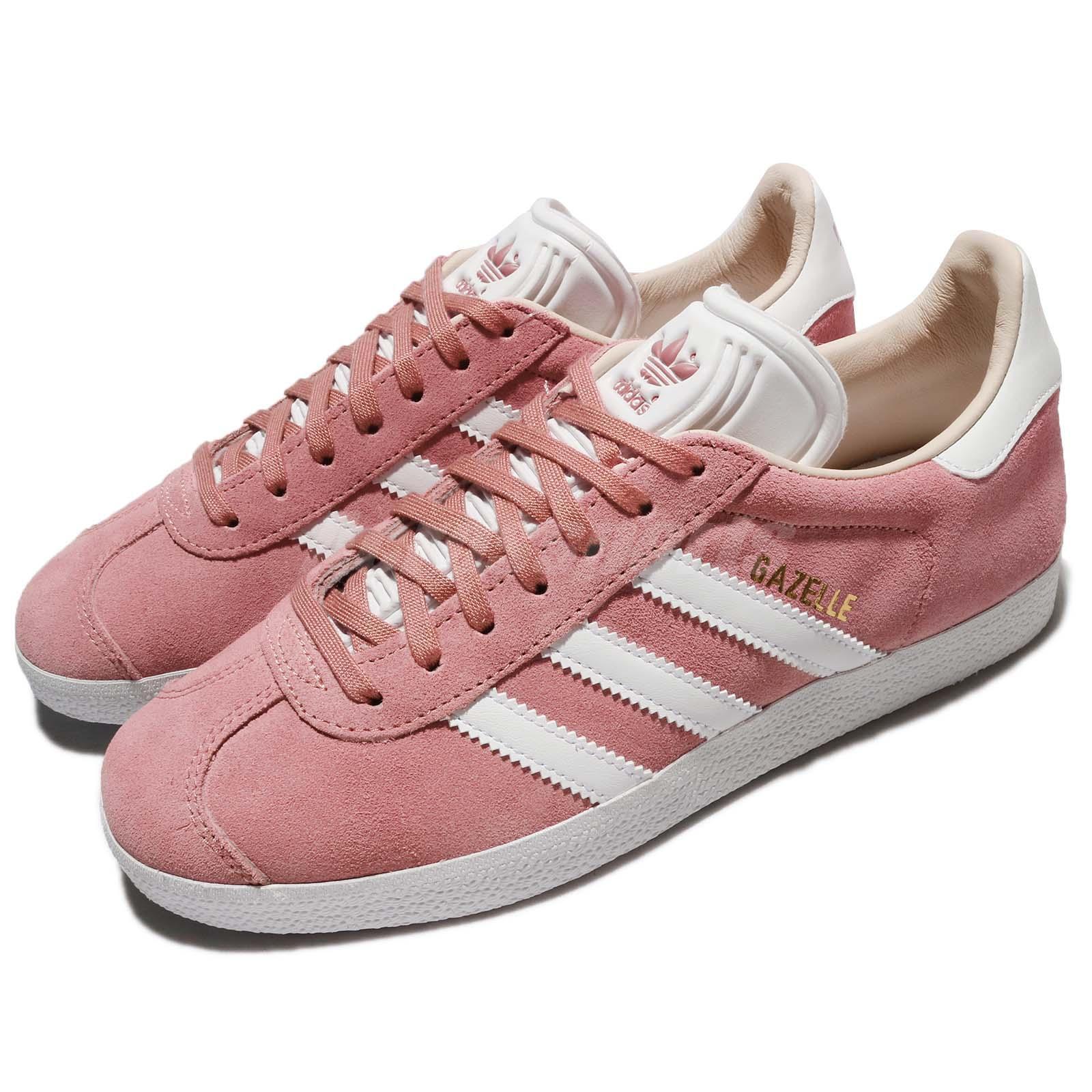 aaca3b95d0d07a adidas Originals Gazelle W Suede Pink Ash Pearl White White White Linen  WoHommes Shoes CQ2186   Durable Dans L'utilisation 3de8a4