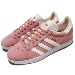 super popular d7dff 13ec9 Image is loading adidas-Originals-Gazelle-W-Suede-Pink-Ash-Pearl-
