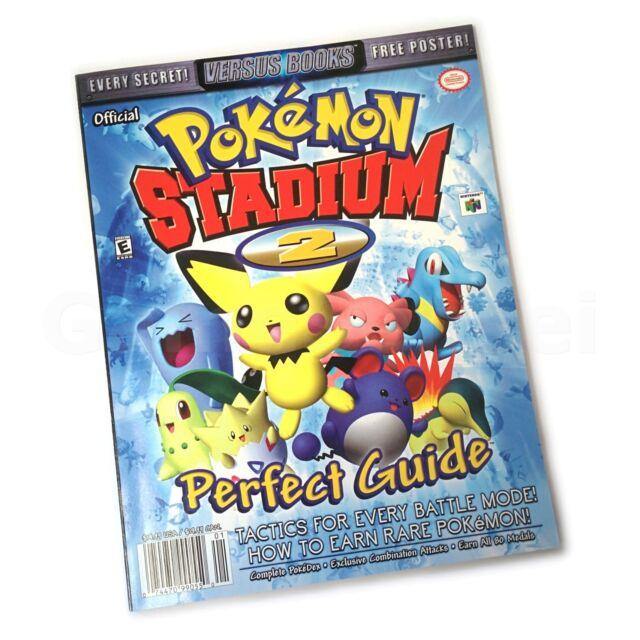 n64 nintendo 64 pokemon stadium 2 guide book poster by versus rh ebay co uk pokemon stadium guide book pokemon stadium n64 strategy guide