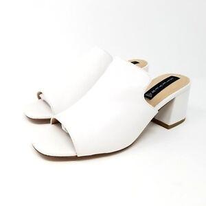 033287c28e8 STEVEN by Steve Madden Women s Waze Sandal Open Toe Heel Slide White ...