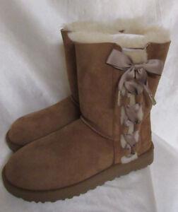 8feea4bb17 NIB Ugg Australia Pala Suede Lace Up Short Boots 1017531 Chestnut ...