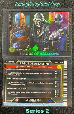 Injustice Arcade GEM MINT S2 Card 104 League of Assassins Platinum Team Card