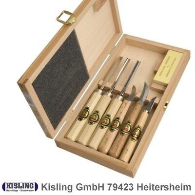 Kerbschnitzgarnitur Ciliegie 7- Pezzi #3437 Im Scatola Legno Kerbschnitzwerkzeug