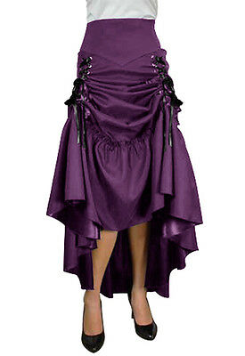 Plus Size Purple Gothic Steampunk Burlesque 3 Way LaceUp Skirt 1X 2X 3X 4X