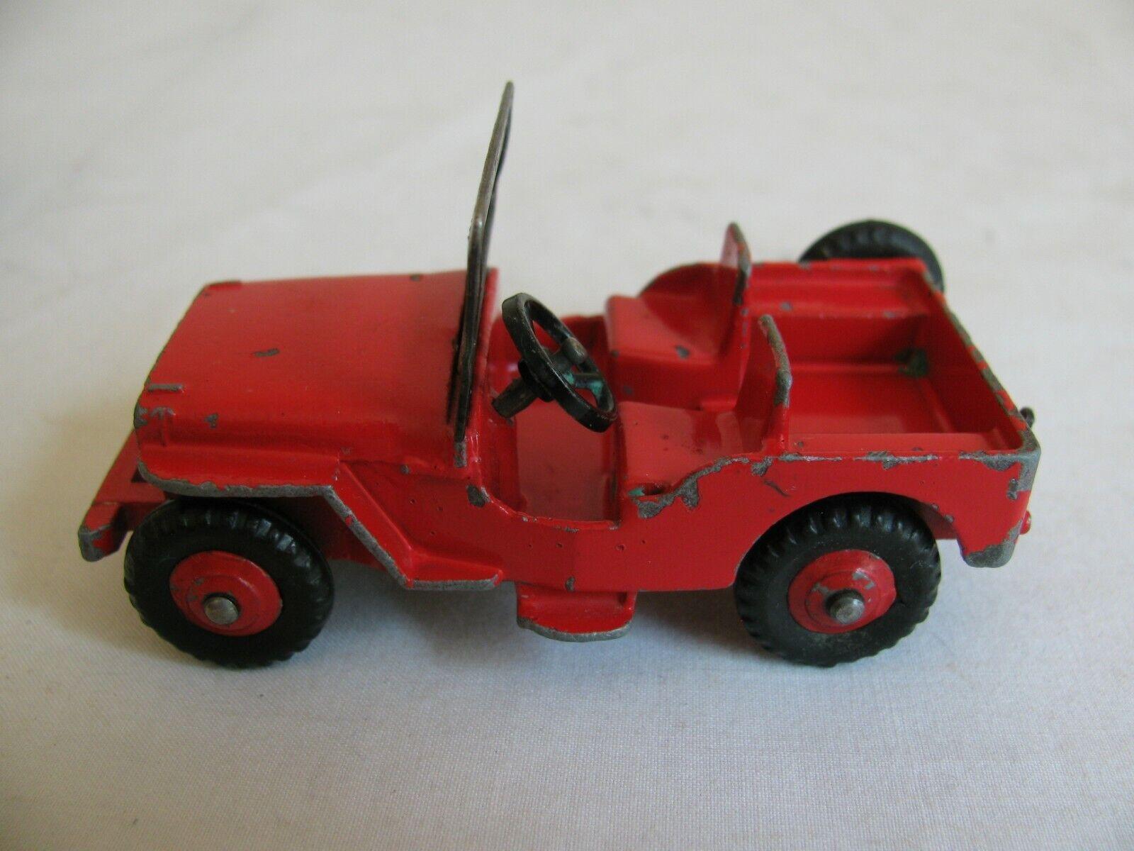calidad de primera clase Vintage Dinky Juguetes Meccano Jeep Willys Universal civil civil civil roja limitada  405 Muy Buen  compras online de deportes