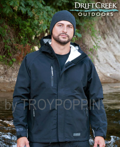 DRIFT CREEK OUTDOORS #7900 BLACK TUNDRA TECH RUGGED MEN/'S RAIN GEAR JACKET WORK