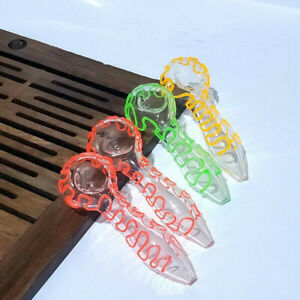 New arrival Smoking Pyrex Glass Pipe Portable hand Tobacco spoon Pipes