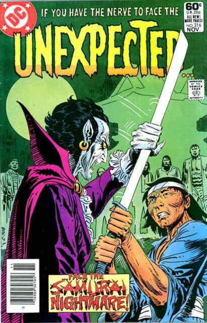 UNEXPECTED #216 F, Joe Kubert c., The, Horror, DC Comics 1981