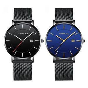 Modern-Men-Ultra-thin-Casual-Stainless-Steel-Watch-Mesh-Band-Quartz-Wristwatch
