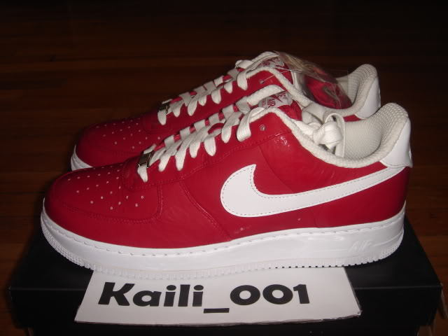 Nike Air Force 1 Low Supreme I O Slam Jam RED Linen Taiwan 3m snake B